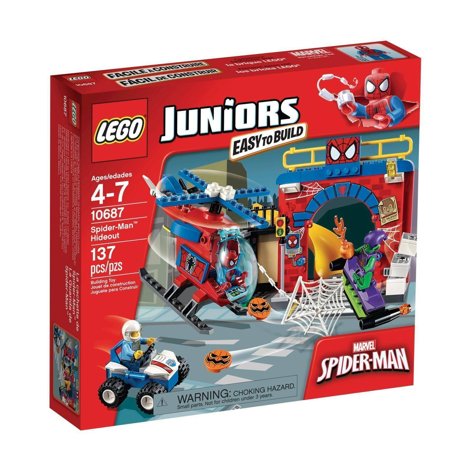 10687 SPIDER-MAN HIDEOUT lego legos set NEW juniors green goblin sealed