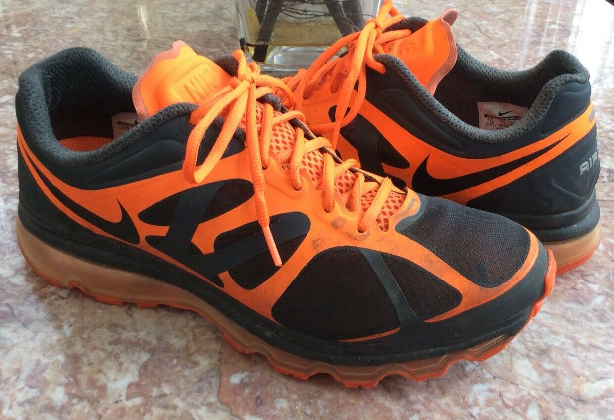 Nike Air Max+ 2012 Men's orange Black Athletic Running shoes Size 12