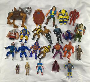 1980s 1990s Vintage Mixed Action Figure Lot MOTU Transformers Ghostbusters Part