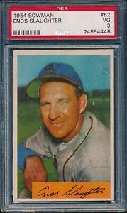 1954-Bowman-Baseball-Enos-Slaughter-62-PSA-3-CARDINALS-VG-HOF