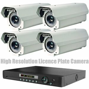High Resolution Video Licence Plate Security Camera Night Vision CCTV + DVR