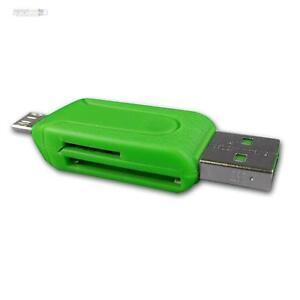 OTG microSD USB Cardreader Kartenleser für Smartphone Tablet SDHC Card grün SD