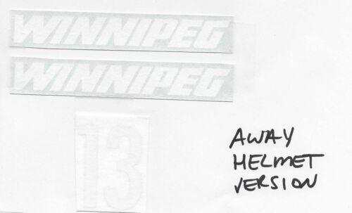 Replicated Teemu Selanne Jofa 390 Model Helmet Winnipeg Jets Away Version Decals