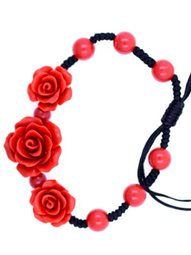 Rot Lack rosen-armband anders auswahlen