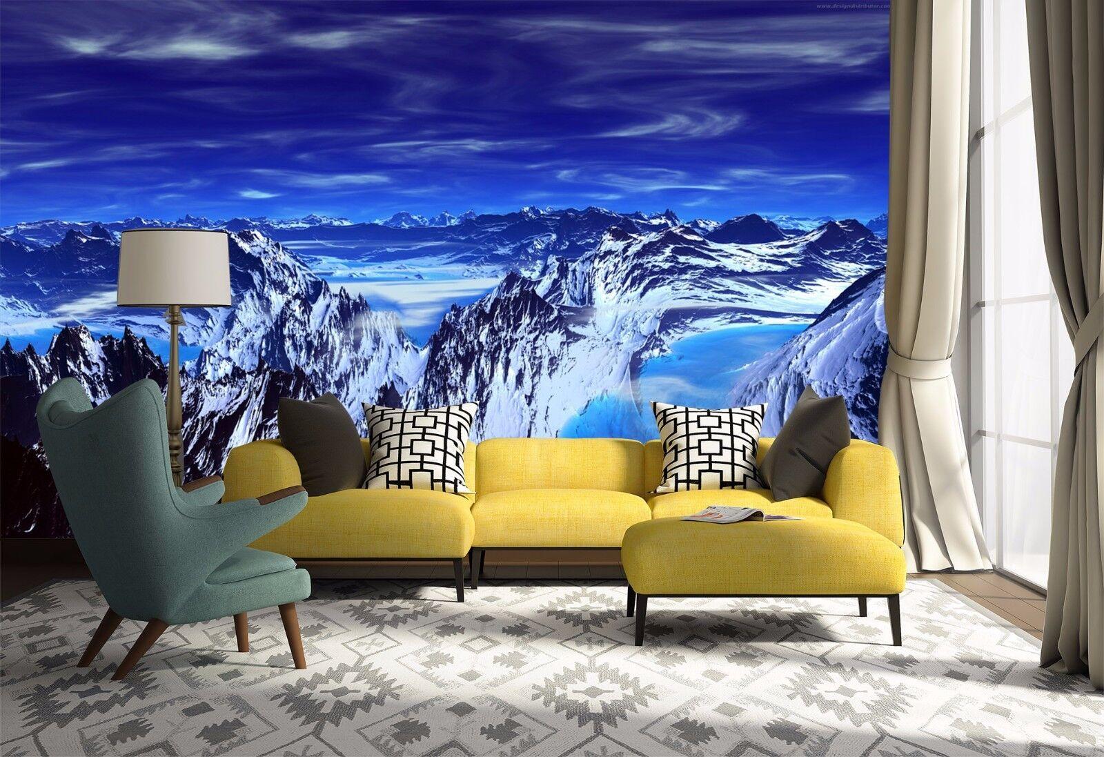 3D Bule Hills Sky 51 Wallpaper Murals Wall Print Wallpaper Mural AJ WALL AU Kyra