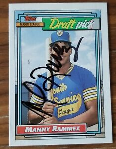 Manny Ramirez signed autographed 1992 Topps Rookie Card Rare
