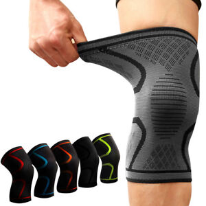 1468fb9763 1 PCS Fitness Running Cycling Knee Support Braces Sport Compression ...