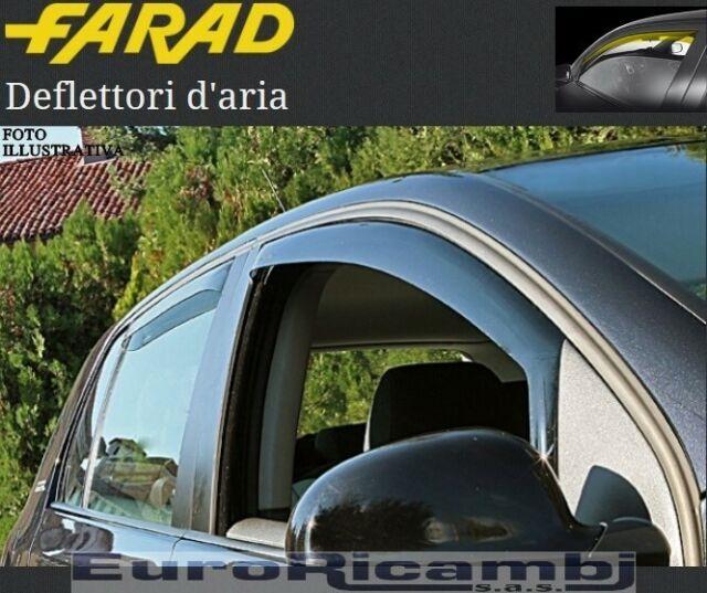 COPPIA DEFLETTORI ARIA FARAD FIAT PANDA 2003>2011  ANTIVENTO ANTITURBO