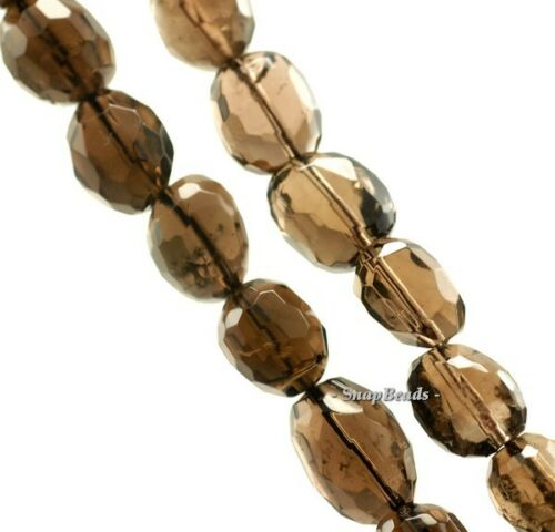 """20X12-18X11MM  SMOKY QUARTZ GEMSTONE FACETED NUGGET LOOSE BEADS 7/"""""""