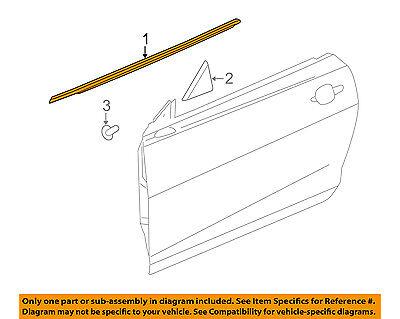 Chevrolet GM OEM Door-Window Sweep Belt Molding Felt Weatherstrip Left 23112216
