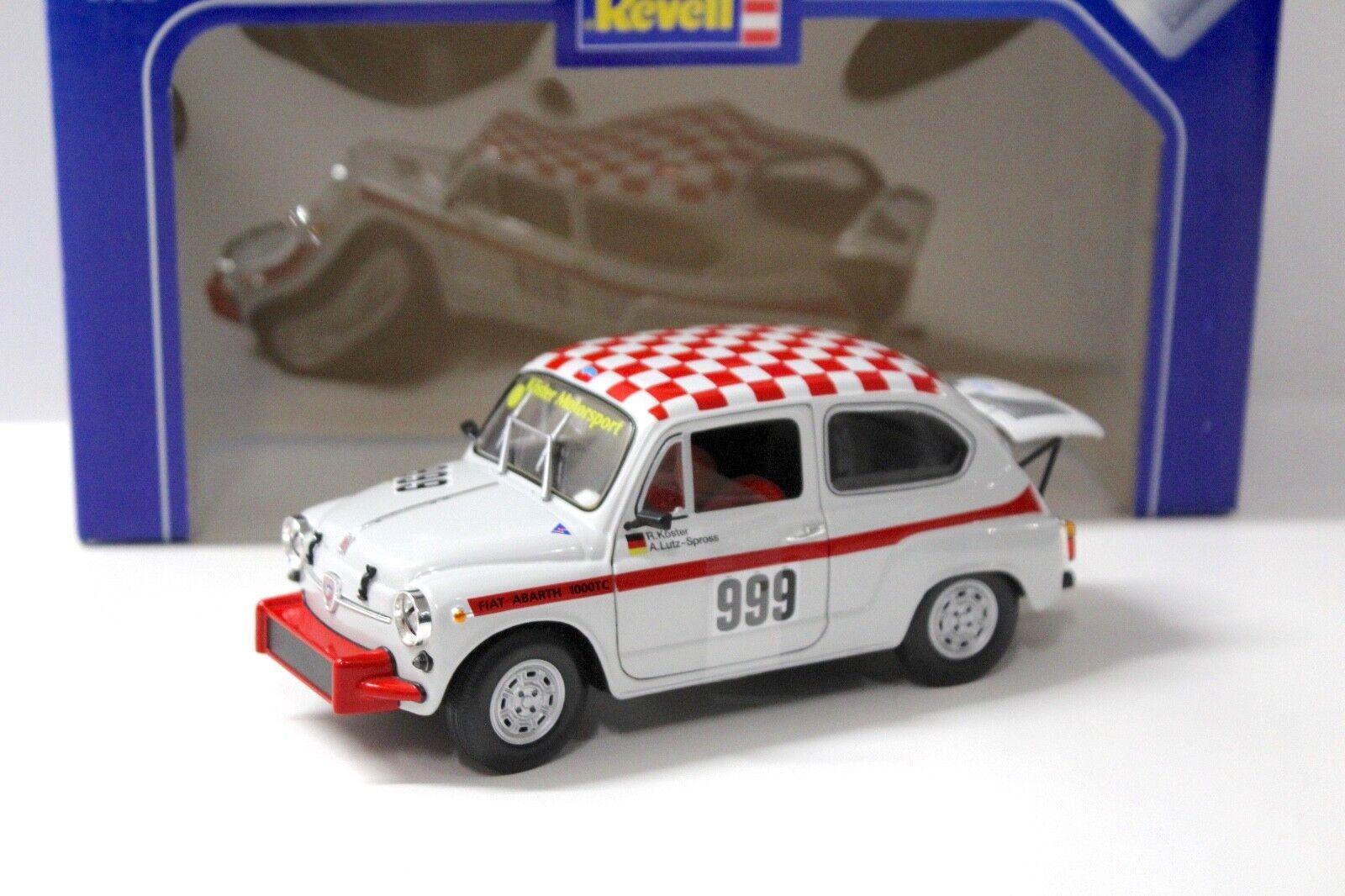 1 18 REVELL FIAT ABARTH 1000 TC bianautoosso  999 nuovo per PREMIUMmodelloautoS