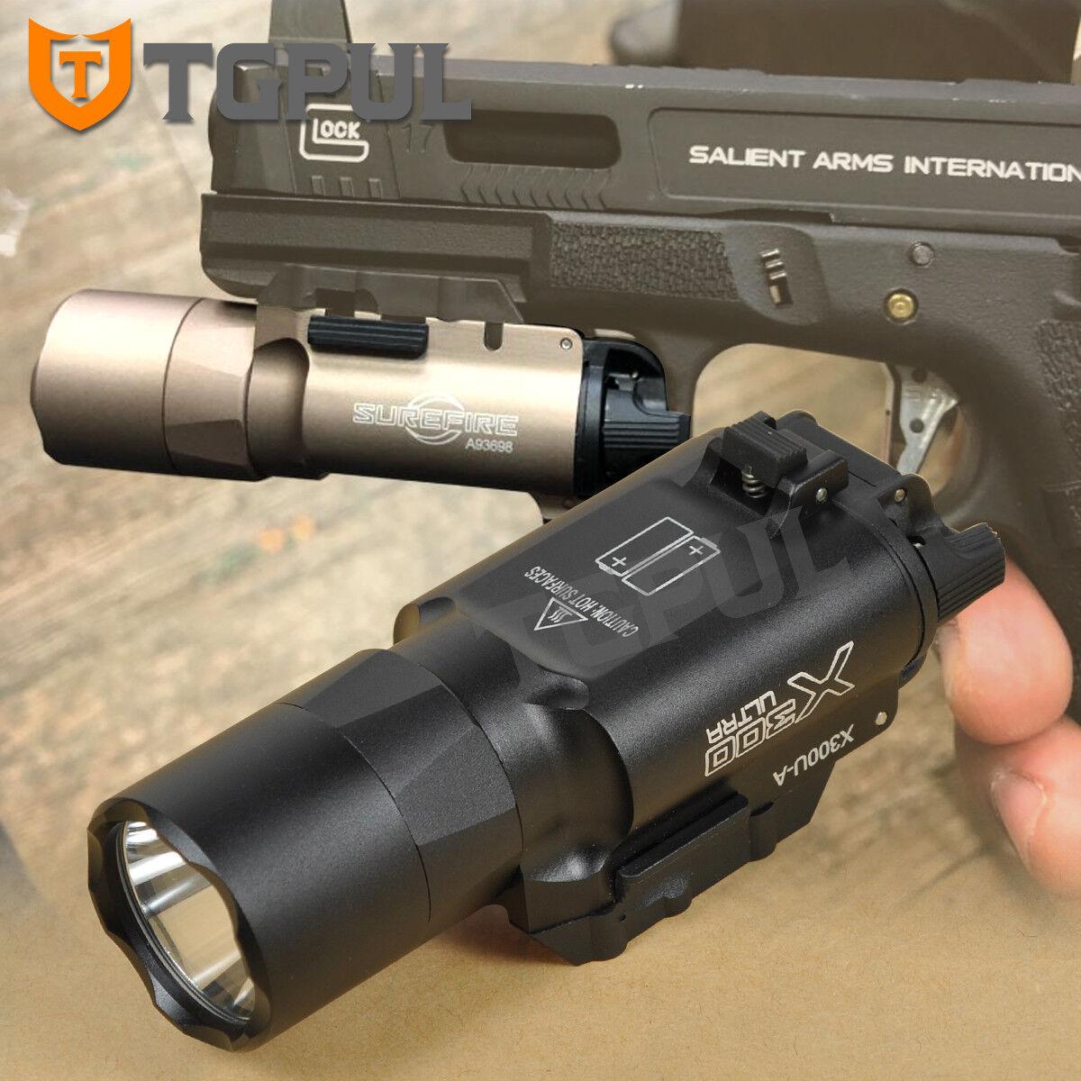 X300 Ultra light weapon Luz 350 LM Universal QD clon de montaje en carril Picatinny