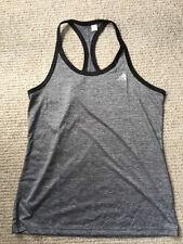 NWT women's adidas loose tank grey heather/black size Medium