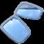 ukscooters-VESPA-LAMBRETTA-HIGHLY-CHROMED-STADIUM-MIRROR-HEAD-X-2-NEW-SQUARE miniatura 2