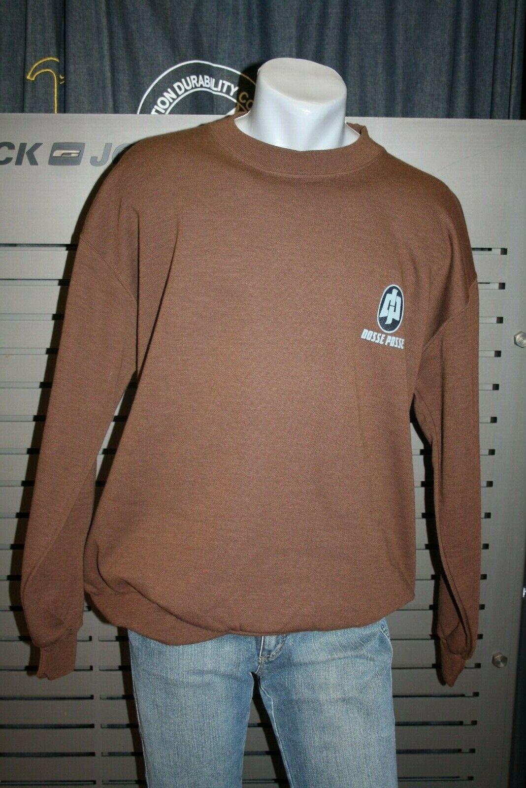 Dosse Posse Posse Posse Sweatshirt Marronee Deb Nuovo Vintage 90 b742d7