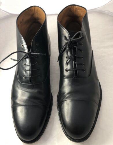 Ferragamo Black Ankle Lace Up Dress Shoes Size 9.5