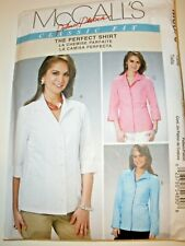McCalls SEWING PATTERN M6076 Misses Shirts//Blouses 8-14 or 16-22