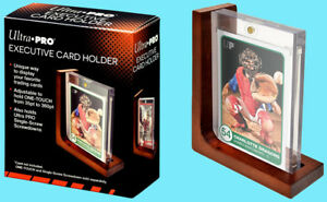 a76707aa996 Image is loading Ultra-Pro-EXECUTIVE-Wood-CARD-HOLDER-Adjustable-Display-