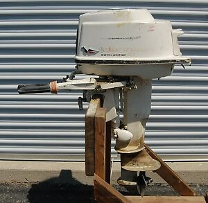 1959 johnson sea horse seahorse 10 hp outboard motor for 4 horse boat motor