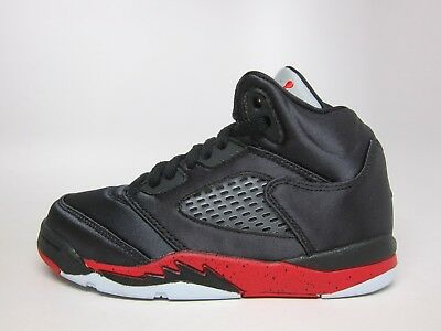 New Air Jordan Kinder Retro 5 Satin (PS) Schuhe (440889 006) BlackUniversity Red | eBay