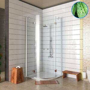 glas viertelkreis duschkabine mitzwei t ren 80x80 90x90 100x100 dusche duschwand ebay. Black Bedroom Furniture Sets. Home Design Ideas
