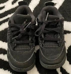 Air Jordan IV 4 Black 8C Toddler