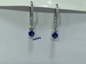 9f4852f99d Image is loading Attract-Trilogy-Pierced-Earrings-White-Blue-Swarovski- Crystal-