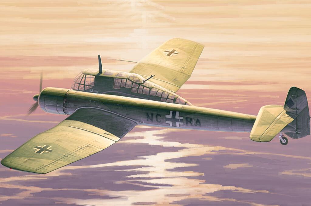 HobbyBoss 81728 1 48 Blohm&Voss BV-141 plastic model Aircraft kit