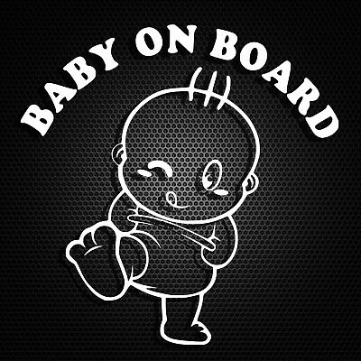 2x Baby On Board Child Waterproof Sticker for Window Bumper Car Sign120 mm V1060