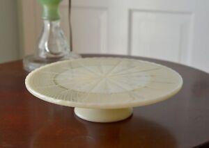 MCM Anchor Hocking Milk Glass Cake Pedstal Plate