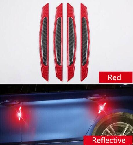 4x Car Door Reflective Safety Warning Strip Anti-Collision Sticker Protector