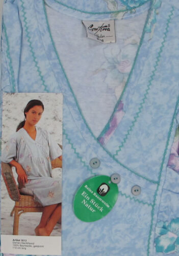 52//54 36//38 48//50 Comtessa Nachtwäsche Damen Nachthemd kurzarm Gr