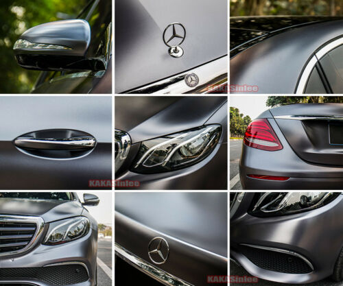 Tan Grey Car Pearl Metal Satin Matte Metallic Chrome Vinyl Wrap Sticker Film CF