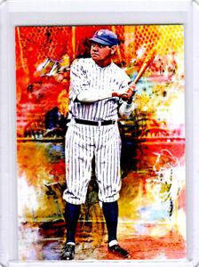 2021 Babe Ruth New York Yankees 1/1 ACEO Fine Art Print Card By:Q
