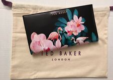 Ted Baker Floral Black Travel Wallet Passport Holder Clutch Brand New