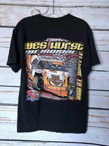 Medium Mens BARNETT HARLEY DAVIDSON Wes Hurst Memorial Racing Tee T-Shirt