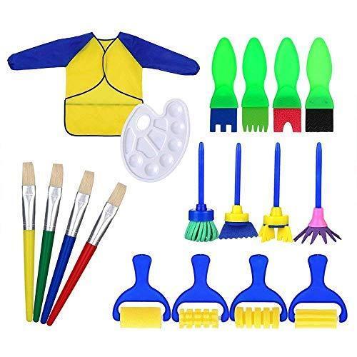 Kids Paint Brushes 18 PZ Spugna Pittura Spazzola Set per i bambini Toddlers