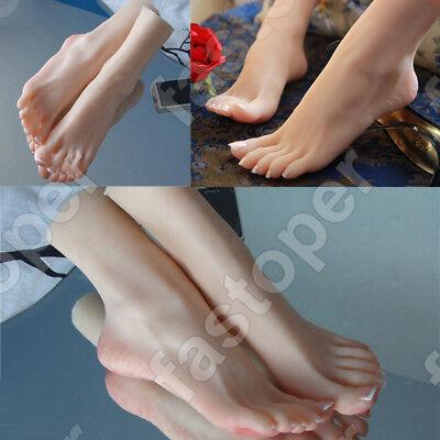 perfk 2 Unids Maniqu/í Femenino Modelo De Pies De Pie con Dedos Separados para Zapatos Calcetines Sandalias Exhibici/ón De La Joyer/ía Robusto