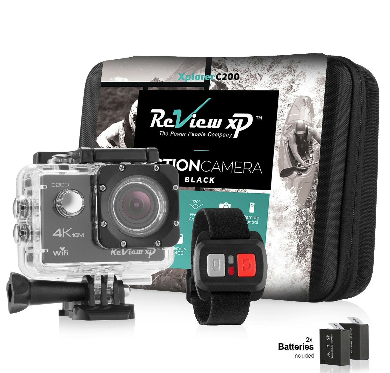 4K Sports Action Camera Ultra HD 16MP 1080p 60fps Waterproof + Accessory Bundle Featured