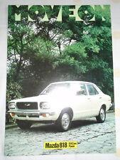 Mazda 818 OH Cam Power brochure c1974