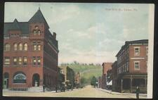 POSTCARD TYRONE PENNSYLVANIA PA WEST 10TH STREET BUSINESS STORE FRONTS 1907
