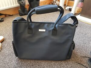 443679ae57 Image is loading Cerruti-weekend-bag-black-TRAVEL-HOLDALL-FREE-UK-