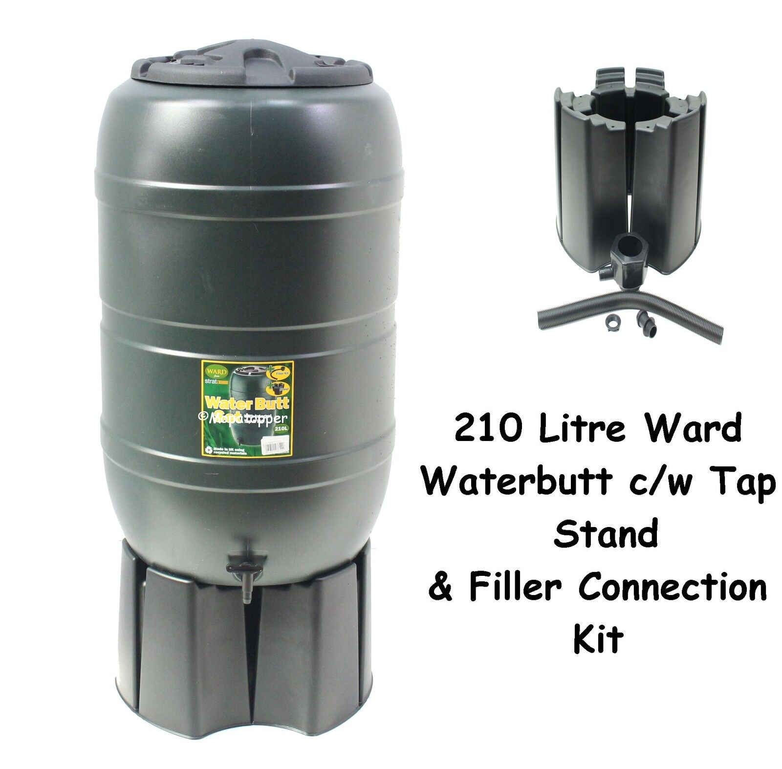 Ward 100L Slimline Water Butt including Tap and Lockable Lid