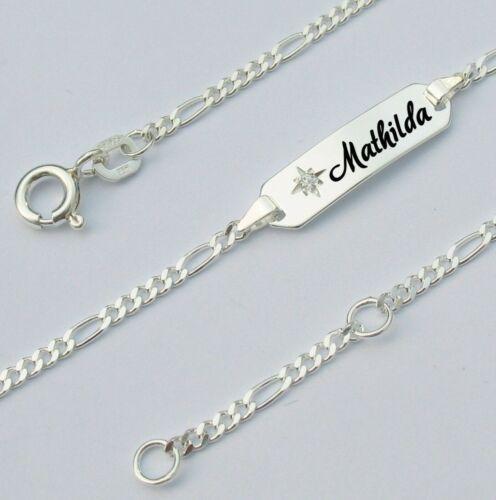 Gravur Armband Armkette Kinder Baby Echt Silber 925 Silberkette Taufarmband neu