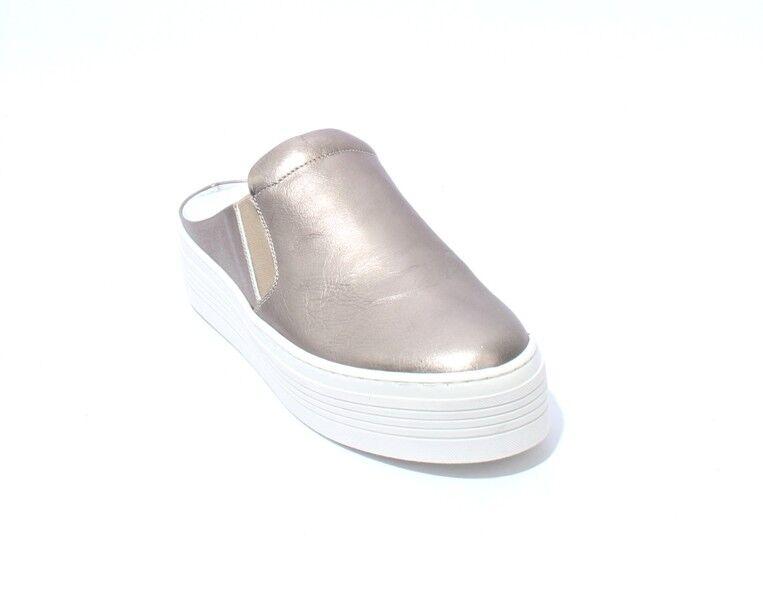 autentico en linea Mally 6176 6176 6176 Bronce Metálico blancooo Zapatos Sandalias Mulas De Plataforma De Cuero 38 8 EE. UU.  venta con descuento
