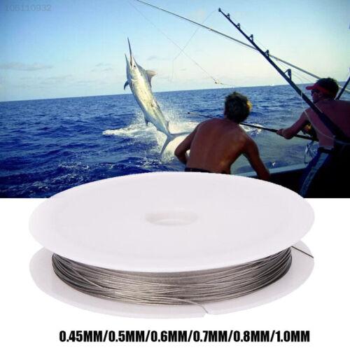 9EAB 10M Anti-Bite Fishing Trolling Line Stainless Steel Coating Jigging Lead Wi
