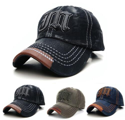 NEW Casual BASEBALL CAP JM HAT SNAP BACK Size Adjustable Strap Unisex Mens Women