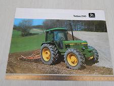 DEPLIANT BROCHURE ORIGINALE TRATTORE TRACTOR JOHN DEERE 2140 1982