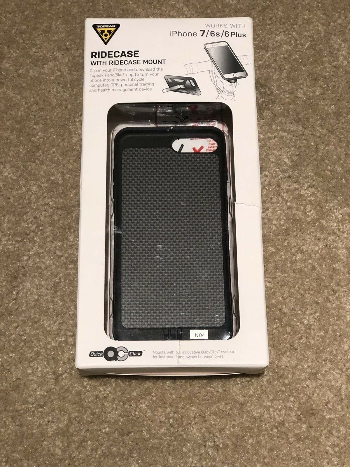 "Topeak RideCase iPhone PLUS 6+ 6s+ 7+ 8+  Phone 5.5"" Holder Case + Mount New  very popular"