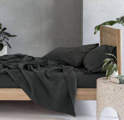 NEW Linen House Nimes 100/% Linen Sheet SetQueen KingMagnet